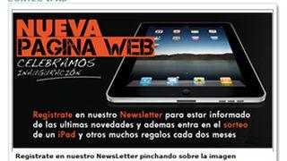 Sagola sortea iPads entre los suscriptores de su newsletter