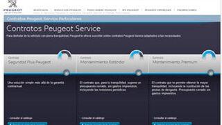 Los contratos de posventa de Peugeot, en la página web