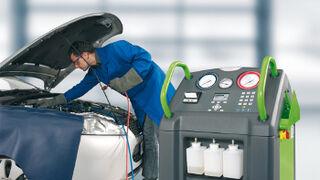 Gases fluorados en el taller de coches