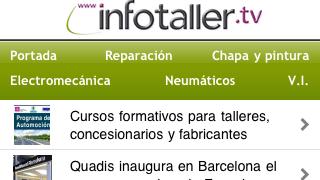 Infotaller.tv, la primera web para talleres en App Store y Android Market