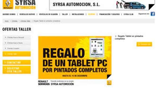 Una tablet PC al pintar el coche en Renault Syrsa Automoción