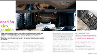 Alineación de ejes de camión
