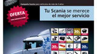 Descuentos del 30% en recambios Scania para vehículos de más de cinco años