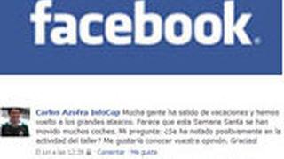 Debate en Facebook sobre la actividad del taller debido a la Semana Santa
