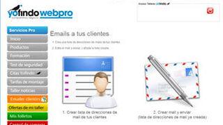 """Yofindo ofrece la herramienta """"e-mailer"""" a sus talleres colaboradores"""