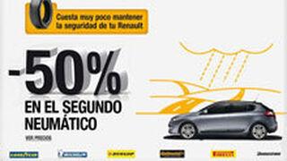 Los talleres Renault descuentan el 50% en el segundo neumático