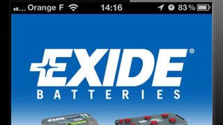 Exide lanza una aplicación para buscar baterías en el iPhone