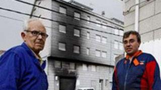 Solidaridad en Galicia con el dueño de un taller calcinado