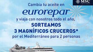 Eurorepar Auto sortea tres cruceros al cambiar el aceite y el filtro