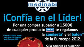 Medinabí regala la camiseta de la Roja por compras de recambios SKF