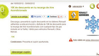 Cupones descuento de 10 euros en Renault