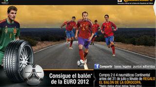 Renault y Continental regalan el balón de la Eurocopa