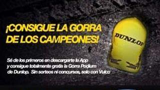 Vulco regala gorras de Dunlop para promocionar su app