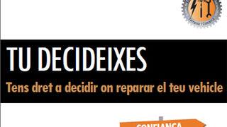 """Campaña """"Tú decides"""" para informar del derecho a la elección de taller"""