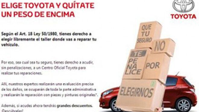Toyota, campaña por la libre elección de taller