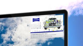 El calendario 2013 de Standox, también para el ordenador