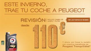 Peugeot, revisión y seguro de averías por 110 euros
