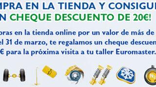 Descuentos de 20 euros por compras online en Euromaster