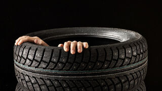 Neumáticos deshinchados