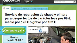 Un taller asturiano oferta reparaciones de chapa anticrisis en Groupon