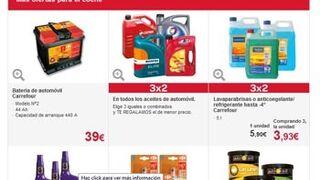 Carrefour oferta 3x2 en varias familias de productos para el coche