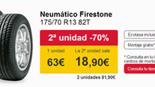 Carrefour descuenta el 70% en el segundo neumático