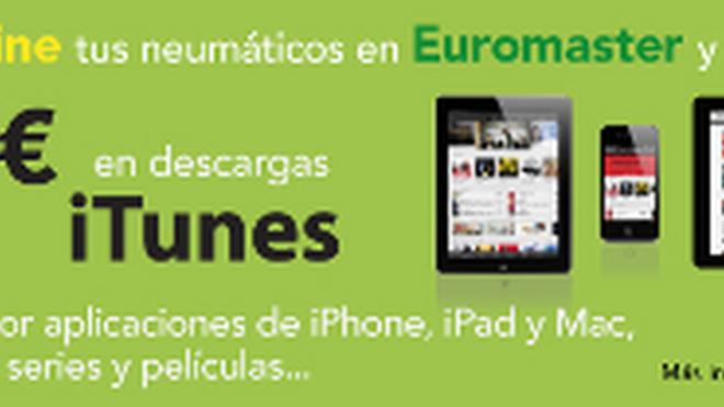 Euromaster regala 10 euros en iTunes por la compra de neumáticos