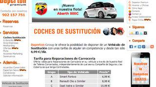 Empresa de alquiler ofrece coches de sustitución a clientes de talleres