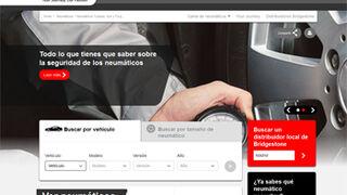 Bridgestone, nueva web de neumáticos para turismos en español