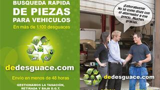Dedesguace.com localiza piezas en 1.200 desguaces