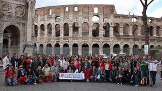 Ochenta clientes acompañaron a Reynasa a Roma