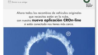 CROn-line, todos los recambios originales disponibles en la 'nube'