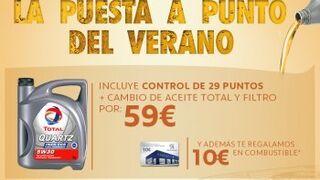 Peugeot promociona el cambio de aceite Total y filtro por 59 euros