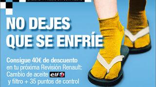 Renault descuenta hasta 40 euros en revisiones con aceite Elf