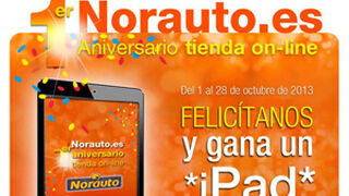Norauto sortea un iPad por el primer aniversario de su tienda online
