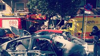 Explota en Barcelona un taxi modificado a GLP