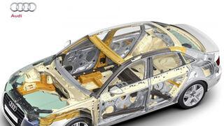 Metal, plástico y carbono, la receta de Audi para adelgazar