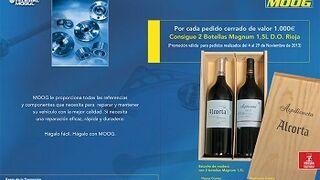 Moog premia con vino la compra de sus productos