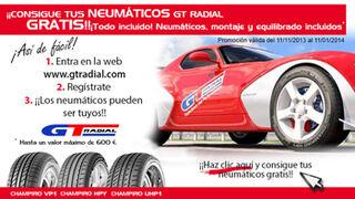 GT Radial sortea cinco juegos de neumáticos