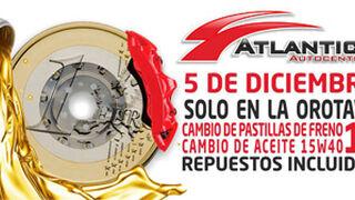 Cambio de aceite y pastillas a 1 euro, el chollo de Atlántico Autocentros