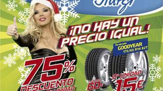 Aurgi ofrece neumáticos Goodyear desde 14 euros