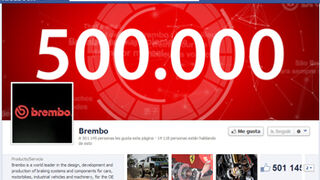 Brembo ya suma medio millón de seguidores en Facebook