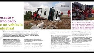 Rescate y remolcado de un vehículo industrial