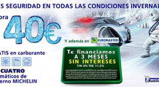Euromaster, cheques gasolina y financiación por neumáticos