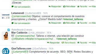 La quedada en Twitter #Internet_talleres reunió a los profesionales de la posventa