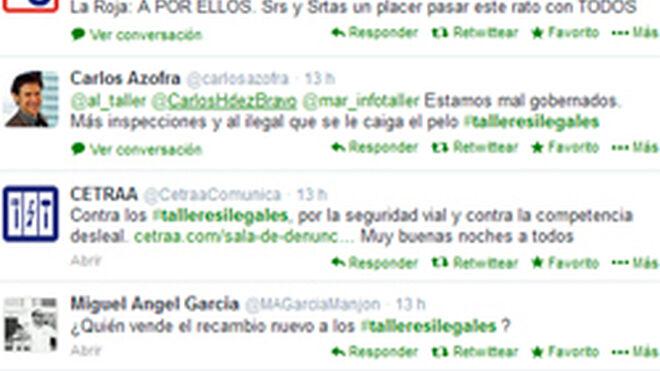 Gran éxito de participación del tuit debate #talleresilegales