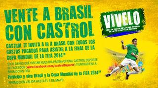 Castrol sortea en Facebook un viaje a la final del Mundial de Brasil