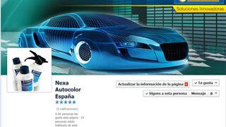 Nexa Autocolor, presente en Facebook y Twitter