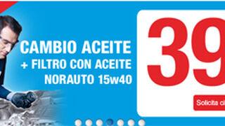 Norauto cambia aceite y filtro por 39 euros