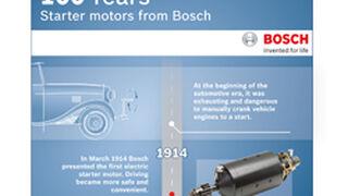 Bosch celebra los 100 años de sus motores de arranque